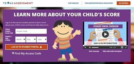 Parent Access to STAAR Student Portal