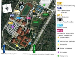 FRIDAY NIGHT: MUSTANG PARKING INFORMATION