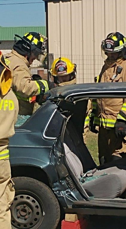 "EMT Students use Jaws of Life to Extricate ""Patient"" from Car"