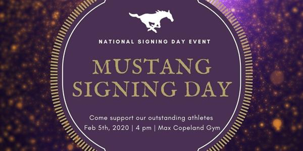 MUSTANG SIGNING DAY