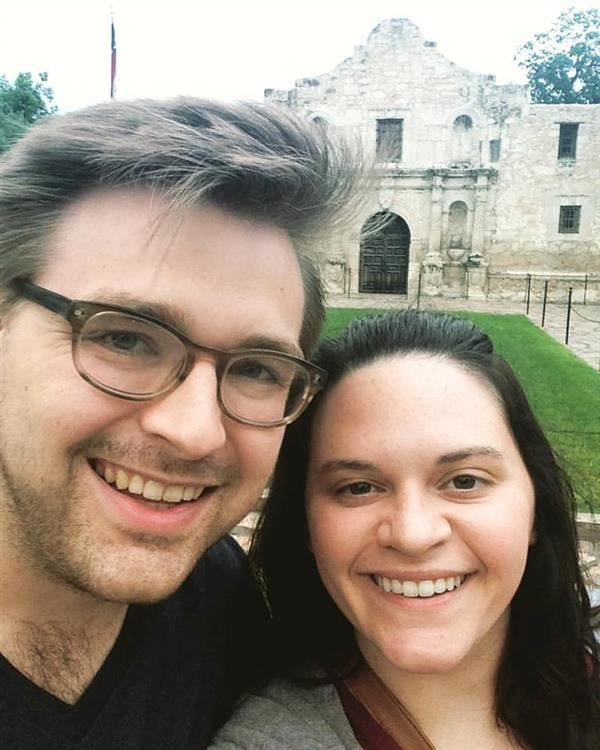 My wife Emma and I at the Alamo in 2017!