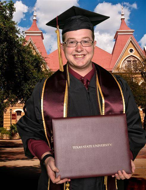Texas State Graduation Picture